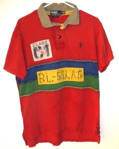 Polo Ralph Lauren Large L Rafting Rugby Polo Shirt Custom Fit NWT $125  #PoloRalphLauren #
