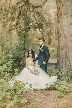 Fairy Tale Woodland Wedding | Kristen Booth Photography | Enchanting Mountain Bridal Portraits in a Fairy Tale Forest
