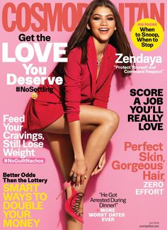 Zendaya Coleman covers the July 2016 issue of Cosmopolitan magazine photographed by James White. Zendaya Coleman, Estilo Zendaya, Zendaya Swag, Zendaya Outfits, Zendaya Body, Zendaya Style, Shake It Up, Mode Collage, Disney Channel