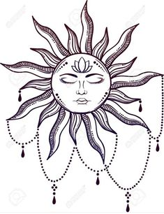 Illustration of Beautiful elegant sun face symbol Tattoo design. Alchemy symbol vector art, clipart and stock vectors. Body Art Tattoos, Mandala Tattoo, Tattoos, Sun Tattoo Designs, Hippie Tattoo, Symbol Tattoos, Cute Tattoos, Alchemy Symbols, Tattoo Designs