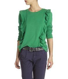 E-boutique Sweat Sorbet Vert Leon & Harper femme | Place des Tendances