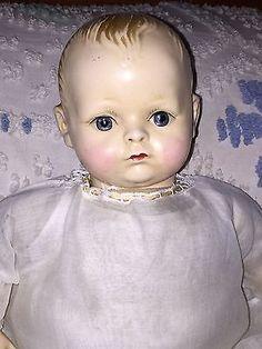 """Rare Antique Madame Hendren LifeLyk 16"""" Composition  Doll, AO, Near 100 Yrs Old"""