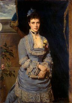 Grand Duchess Maria Fyodorovna by Heinrich von Angeli, 1874 Russia, State Hermitage Museum