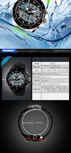 501c65cb1dc  10---Relogio Masculino Skmei Men Sports Watches Waterproof Fashion Casual  Quartz Watch Digital