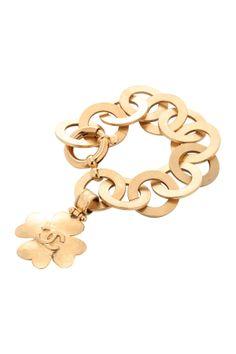 vintage Chanel clover bracelet
