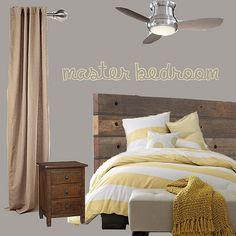 Master Bedroom Inspiration Board by Atkinson Drive, via Flickr