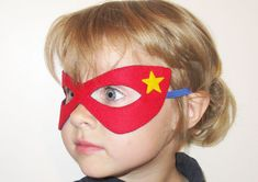 15 felt Superhero Masks party pack for kids YOU by FeltFamily