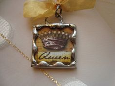Queen bee soldered glass pendant by victoriacharlotte on etsy 895 queen bee soldered glass pendant or charm aloadofball Images