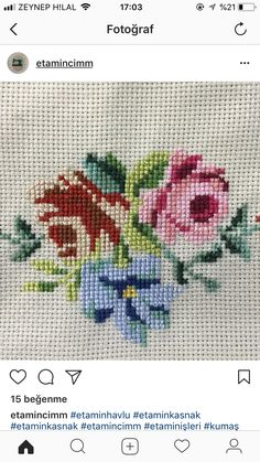 Cross Stitch Borders, Hand Embroidery, Miniatures, Canvas, Crochet, Creative, Bouquet, Letters With Flowers, Floral Letters