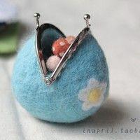 precious felted purse