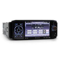 La Auna MVD-420 es una radio para coche con un amplio repertorio de conexiones, pantallatáctil de 11cm (4,3″) y puerto bluetooth. Datos técnicos: • Conexiones: entrada de antena, entrada USB (frontal), ranura SD (detrás del panel de control), entrada AUX jack de 3,5mm, conexión para cable... http://altavocespara.com/coche/auna/auna-mvd-420-autorradio-con-pantalla-tactil-43-abatible-dvd-bluetooh-usb-sd-reproductor-multimedia-panel-desmontable-din-simple-aux-front