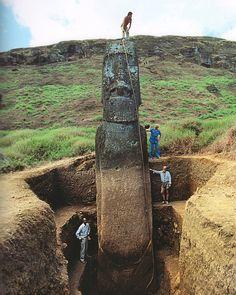 Le corps des statues Moaï de l'Île de Pâques corp statue ile paque 01 information histoire bonus