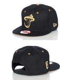 NEW ERA Team snapback cap Embroidered team logo on front Adjustable strap  on back for comfort Gold a. Evelyn Ferwerda · Miami Heat 3b0870acfa8