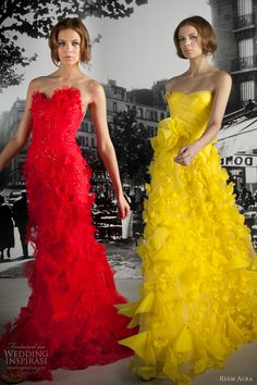 Hilarious-- Maya and I were looking through bridesmaid dresses and came to this picture, and I said 'Omg, hi Bigbird'....  Maya, without missing a beat says 'Oh, hey Elmo'.  It was awesome.