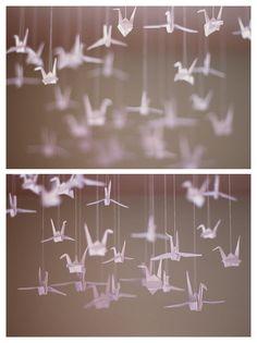 paper crane mobile - by sarah nieman., via Flickr