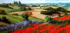 European Village Painting - Tuscany Hills by Daniele Raisi