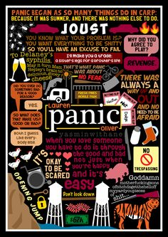 Lauren Oliver — yasminwithane:   Book Collage based on 'Panic' by...