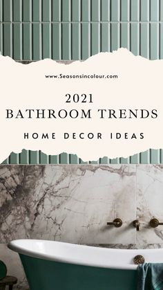 A bathroom renovation often sounds like the biggest challenge you can take on in your home, but it is also one of the most rewarding, making getting out of bed extra special in the morning and helping you wind down after a long day in the office or running after children. Here are our favourite bathrooms for 2021. #bathroomremodel #seasonsincolour #bathroomdecoration Family Bathroom, Budget Bathroom, Master Bathroom, Tongue And Groove Walls, Bathroom Gadgets, Victorian Townhouse, Sink Design, Bathroom Trends, Complimentary Colors