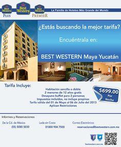 Aprovecha esta tarifa especial de $699 por noche en BEST WESTERN Maya Yucatán.