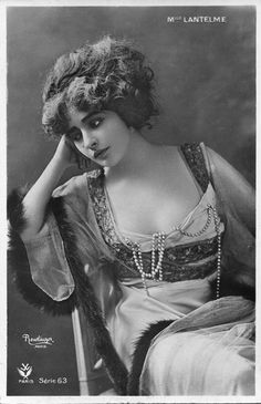 greatgdean:Genevieve Lantelme Reutlinger Paris postcard source ebay