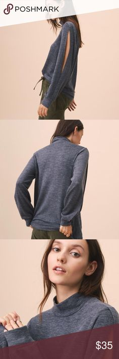 NWT Lou & Grey Top - Lou & Grey Zen Bounce Split Sleeve Top - Brand new, with tags - In perfect condition - SUPER soft!! - 50% Acrylic - 48% Rayon - 2% Spandex - Perfect for laying around the house and even going out - Pairs perfectly with so many things Lou & Grey Tops Tees - Long Sleeve