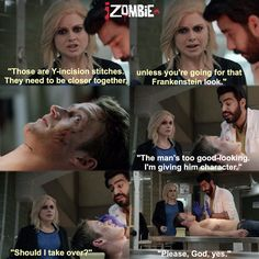 """iZombie """"Virtual Reality Bites"""" - Liv, Ravi and Major Tv Quotes, Movie Quotes, Best Tv Shows, Favorite Tv Shows, Favorite Things, Movies Showing, Movies And Tv Shows, I Zombie, Fangirl"""