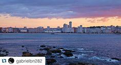 Precioso atardecer  de hace unos días en #ACoruña  por cortesía de @gabrielbn282 #SienteGalicia ・・・ #Coruña #Galicia #RiasAltas ➡ Descubre más en http://www.sientegalicia.com/