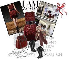 Designer Clothes, Shoes & Bags for Women Fashion Sets, Thalia, Old School, Polyvore Fashion, Pattern Design, Alexander Mcqueen, Xmas, Colour, Closet