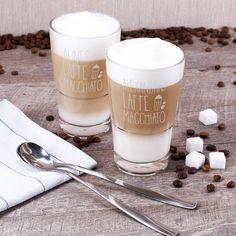 Guten Morgen liebe Sorgen seid ihr auch schon alle da? Nein. Sind wir nicht. Und das ist auch gut so. Denn mit diesem Latte Macchiato Glas ist der Morgen und jegliche anderen Stunden zum Kaffetrinken ein Genuß und es bleibt keine Zeit zum Sorgen.