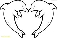 Easy Dolphin Coloring Pages Ideas. Kids would agree to do dolphin coloring pages to build their motor skill. Dolphin Coloring Pages, Heart Coloring Pages, Animal Coloring Pages, Coloring Pages To Print, Free Printable Coloring Pages, Coloring For Kids, Coloring Pages For Kids, Coloring Sheets, Cool Drawings For Kids