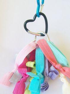 Hair Tie Organizer  2 Single Heart Binder by LuckyGirlHairTies, $3.00