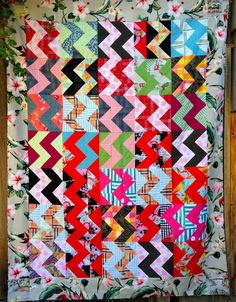 nifty quilts - tennessee lightning, and more wild border