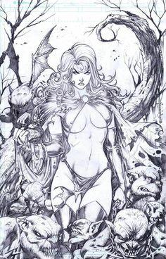 Goblin Queen by The Art of Emil Cabaltierra