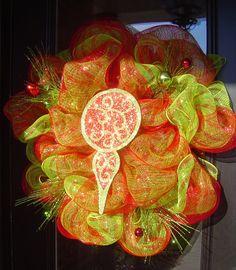 Red door interiors pinterest reddoorinterior on pinterest christmas wreath from red door interiors deco mesh sprays and finial ornament planetlyrics Gallery