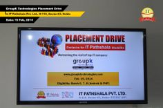 GroupK Technologies, Delhi conducted a placement drive at IT Pathshala Pvt. Ltd. on 19th Feb. 2014 to hire technical trained freshers for the position of Android & PHP Developers.  The following candidates have been shortlisted:  1. Sunidhi Mattoo 2. Ravi Teja 3. Sanjay Yadav 4. Neelam Yadav 5. Vikas Kumar 6. Ali Raza 7. Sumit Grover 8. Dharamendra Bhaskar  Heartiest congratulations to all these students.     For Hot Fresher Jobs, VISIT: www.itpathshala.com