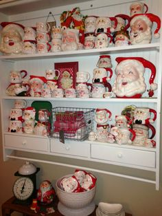 Vintage Santa Mug and Pitcher collection