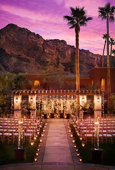 Brides.com: 50 Romantic Wedding Venues in the U.S. . Montelucia Resort & Spa Scottsdale, Arizona  With its jaw-dropping views of Camelback Mountain and its Andalusian-luxe sensibility, this resort is the ultimate desert splurge. Luxuriate with your girls in the Moroccan spa, then tie the knot on the Valencia Lawn (amazing at sunset) or beneath the 18-foot cathedral ceilings in Castillo Lucena; montelucia.com  Browse more romantic wedding locations.