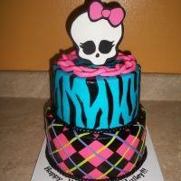 Skulls Layer Cake. Great pattern mix