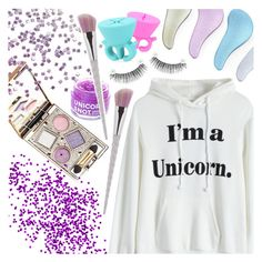"""""""Unicorn style"""" by pastelneon ❤ liked on Polyvore featuring beauty and FCTRY"""