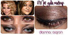 Met Gala Makeup 2012: Dianna Agron, Metallic Smokey Eyes