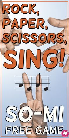 Rock, Paper, Scissors, SING is a fun PowerPoint music game Elementary Music Lessons, Music Lessons For Kids, Music Lesson Plans, Music For Kids, Elementary Schools, Primary Lessons, Piano Lessons, Singing Games, Sight Singing