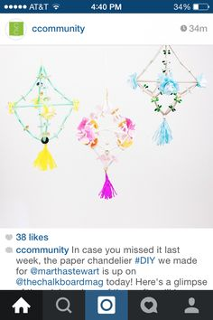 Chandelier straws and paper