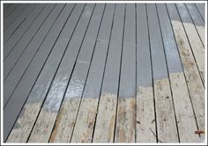 "Painting a Deck: Deckover via Decorating ideas made easy (Just used this pain color ""Flat Top"" for my deck. It is gorgeous! I will definitely use it again!)"