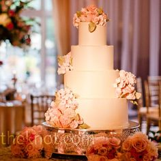Handmade Sugar Flower Cake.