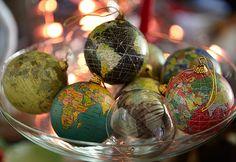 Globe baubles - esferas para Navidad