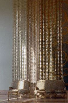 Real Steel Ball Chain Curtains Office Design Pinterest
