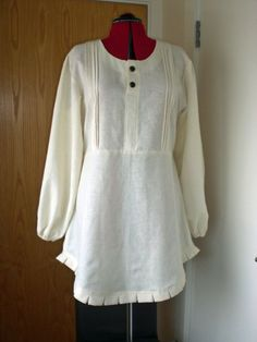Cute tunic....Pin Tucked And Pleated Summer Tunic by AmiTaf on Etsy, $60.00
