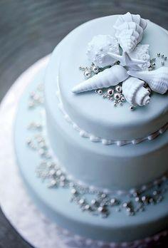 Sugar shells for a seaside wedding