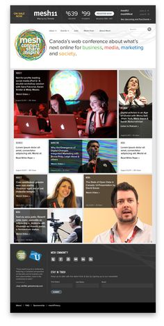 Mesh Conference Website by John Kumahara, via Behance