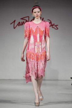 Zandra Rhodes Ready To Wear Fall Winter 2012 Paris Live Fashion, Fashion Show, Zandra Rhodes, Ossie Clark, Wide Trousers, Runway Fashion, Womens Fashion, Vintage Outfits, Vintage Clothing